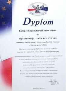 Dyplom EKB dla Ivana Del Vechio