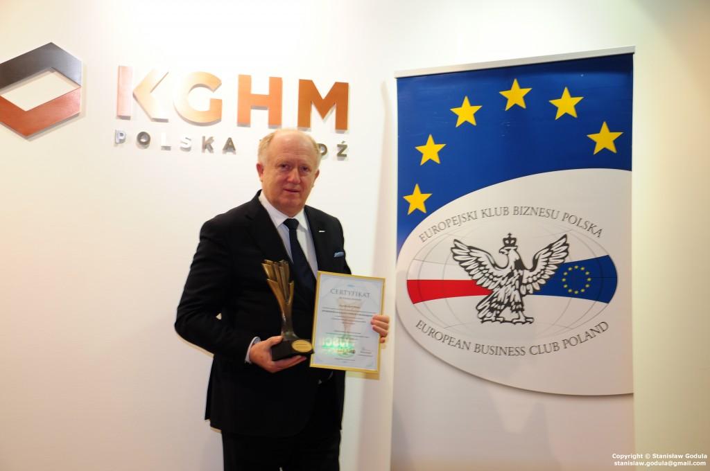 Pan Herbert Wirth z Nagrodą Europejskiego Klubu Biznesu Polska ENTREPRENEUR MAGNUS (WYBITNY PRZEDSIĘBIORCA).