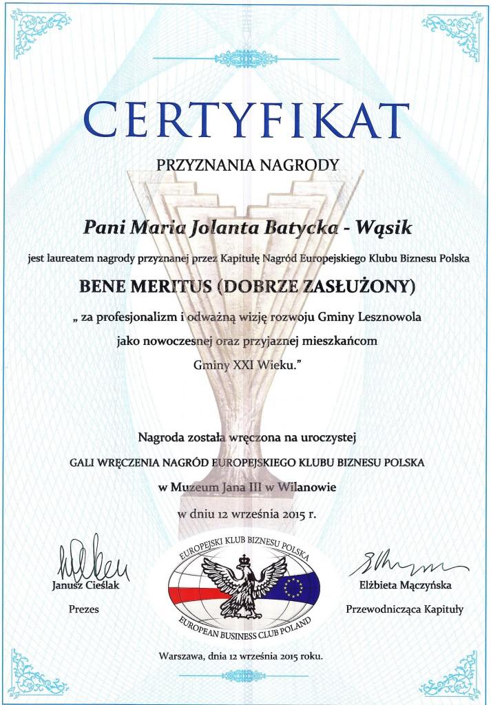 Certyfikaty Nagród EKB Polska 2015 009
