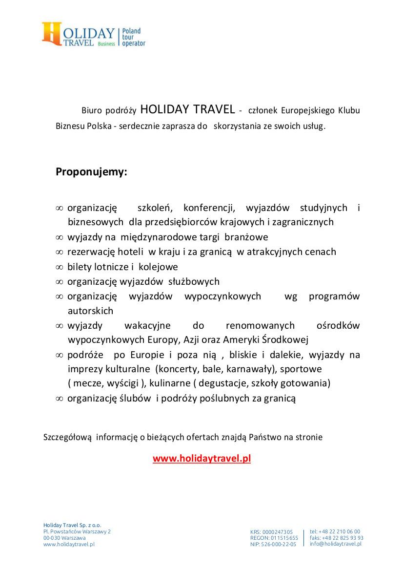 oferta_Holiday_Travel_dla_Europejskiego_Klubu_Biznesu